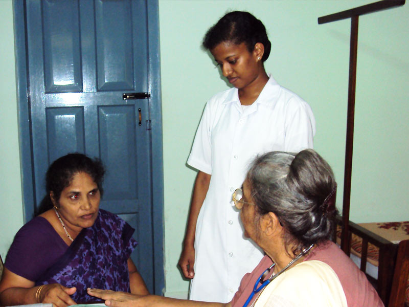 Sr.Pia with patient
